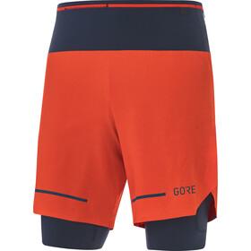 GORE WEAR Ultimate 2i1 shorts Herrer, orange/blå